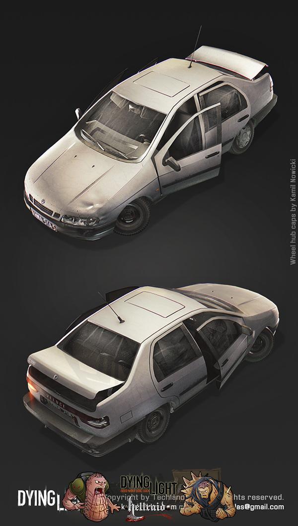 Dying Light 3D Art - взгляд на один из автомобилей изнутри-2