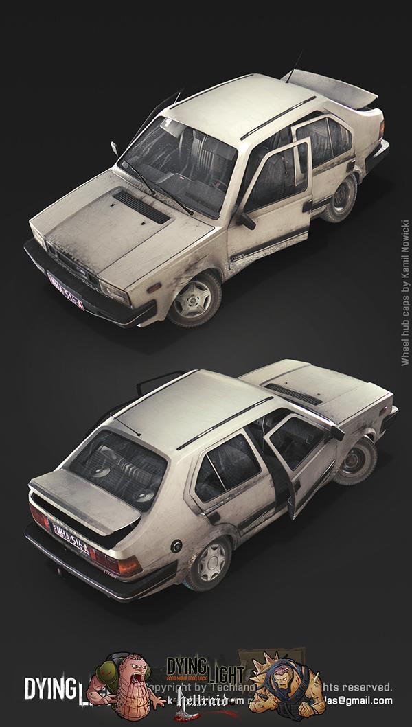 Dying Light 3D Art - взгляд на один из автомобилей изнутри-4