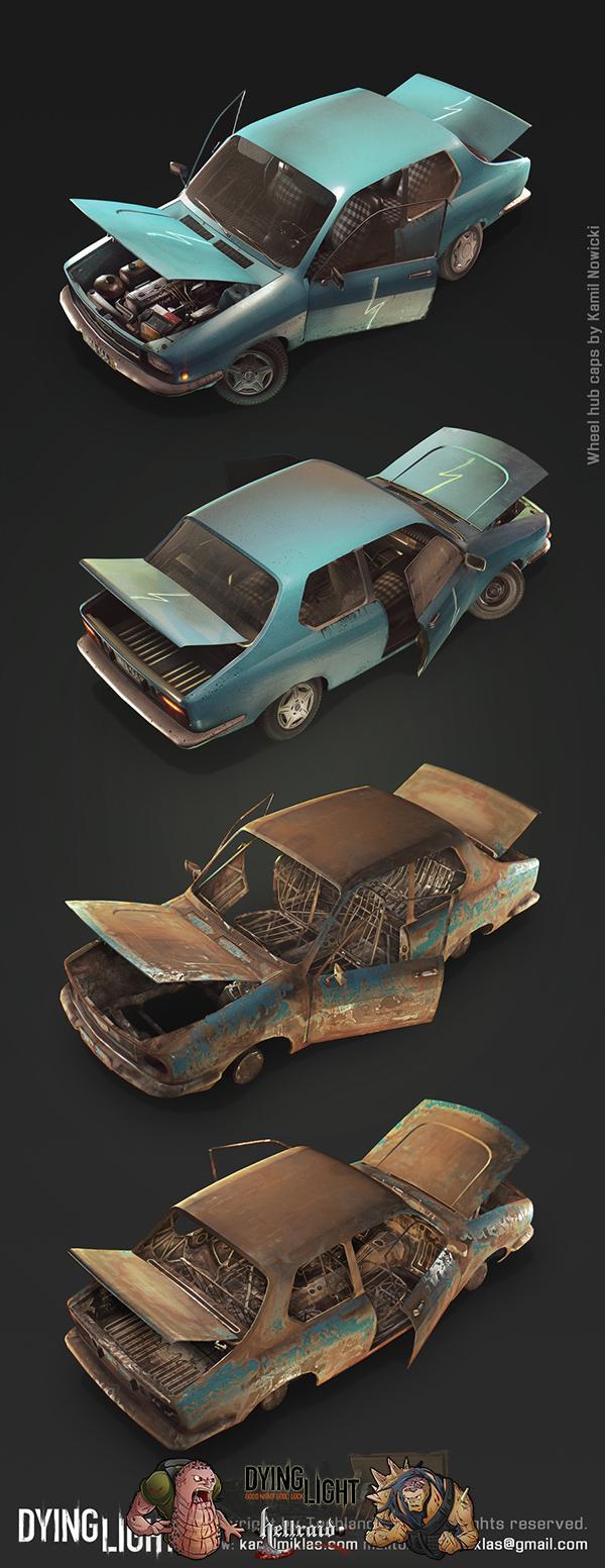Dying Light 3D Art - взгляд на один из автомобилей изнутри-1