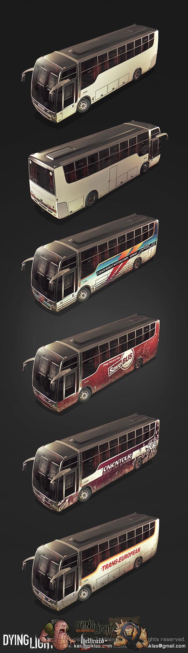 Dying Light 3D Art - взгляд на один из автомобилей изнутри-7